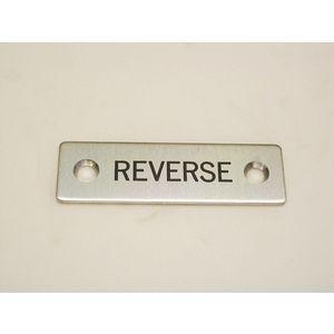 REES 09001-022 Legend Plate, Standard, Reverse | AX3LFD