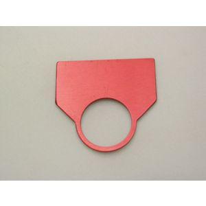 REES 09007-001 Legend Plate, standard, neutro, rosso | AX3LHR
