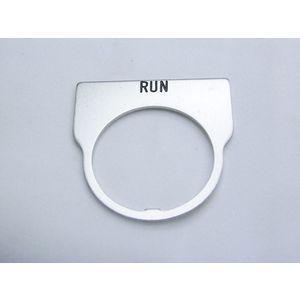 REES 09014-007 Legend Plate, Standard, Run, Trasparente | AX3LJR