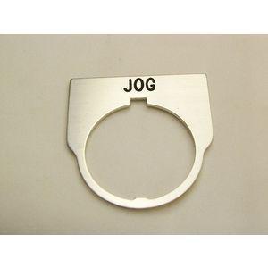 REES 09014-010 Legend Plate, Standard, Jog, Clear | AX3LJV