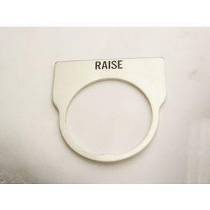 REES 09014-015 Legend Plate, Standard, Raise, Clear | AX3LKA