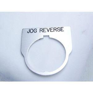 REES 09014-018 Legend Plate, Standard, Jog Reverse, Trasparente | AX3LKD