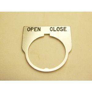 REES 09014-031 Legend Plate, Standard, Open-close, Trasparente   AX3LKT