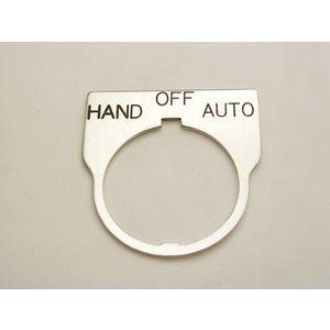 REES 09014-042 Legend Plate, Standard, Hand-off-auto , Clear   AX3LLE