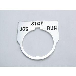 REES 09014-045 Legend Plate, Standard, Jog-stop-run, Trasparente   AX3LLH
