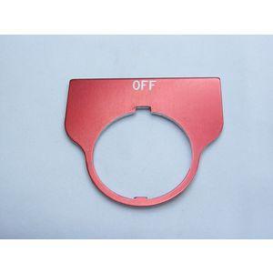 REES 09016-002 Legend Plate, standard, spento, rosso | AX3LLR