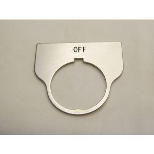 REES 09017-002 Legend Plate, Standard, Off, Trasparente | AX3LLX
