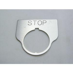 REES 09017-003 Legend Plate, Standard, Stop, Trasparente   AX3LLY
