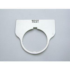 REES 09017-027 Legend Plate, Standard, Test, Trasparente | AX3LMZ