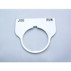 REES 09017-036 Legend Plate, standard, corsa jog, trasparente   AX3LNJ