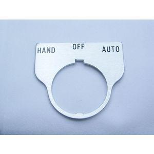 REES 09017-042 Legend Plate, Standard, Hand-off-auto, Trasparente | AX3LNQ