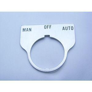 REES 09017-043 Legend Plate, Standard, Man-off-auto, Trasparente | AX3LNR