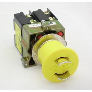 REES 22102-124 Pulsante di arresto di emergenza, bloccabile, giallo | AX3LPC