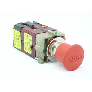 REES 22102-242 Pulsante di arresto di emergenza, rosso | AX3LPL