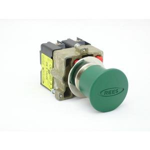 REES 22102-303 Pulsante di arresto di emergenza, verde | AX3LPM