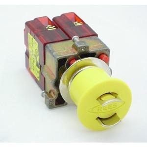 REES 22102-314 Pulsante di arresto di emergenza, bloccabile, giallo | AX3LPN