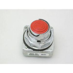 REES 40031-002 Pulsante, mezza copertura, rosso   AX3LQB