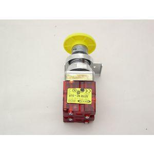 REES 40102-314 Pulsante con testa a fungo, mantenuto con lucchetto, giallo   AX3LRQ