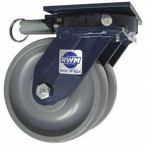 RWM 2-75-GTB-0620-S-SL 6 Inch Heavy-Duty Swivel Plate Caster, 3000 Lbs. Load Rating | CD2LMN 53CH64