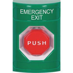 SAFETY TECHNOLOGY INTERNATIONAL SS2108EX-EN Emergency Exit Push Button, Grn, Pneumatic | CD3KHV 52CG03