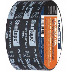 SHURTAPE PW 100 PVC Pipe Sealant Tape, Black, 1199 Inch Length, 2 Inch Width   CD3DCZ 415F90