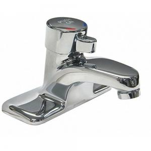 SYMMONS SLC-6000 SS Bathroom Faucet, Push Button Handle Type, No. of Handles 1 | CD2LTW 53JW78