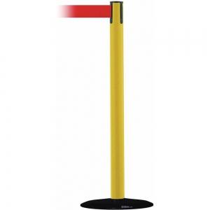 TENSABARRIER 889B-33-35-MAX-NO-R5X-C Barrier Post, With Belt, 13 Feet Length, Red | CD3WJU 20YK49