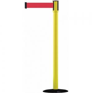 TENSABARRIER 890B-33-35-33-STD-NO-R5X-C Barrier Post, With Belt, Red, 7-1/2 Feet Length | CD3WUR 45RL42