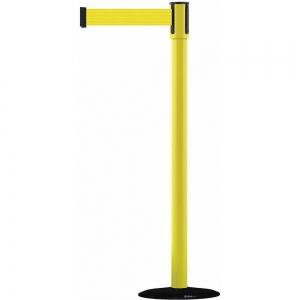 TENSABARRIER 890B-33-35-33-STD-NO-Y5X-C Barrier Post, With Belt, Yellow, 7-1/2 Feet Length | CD3VAL 45RL43