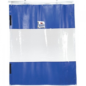TMI 999-00083 Curtain Wall, Blue, Manual Slide, Universal Mount, 24 Feet W x 8 Feet H   CD3VDD 4EE16