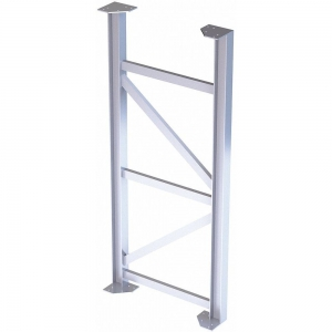 TRI-ARC MPASST8 Aluminum Support Leg, 500 Lbs. Load Capacity, 72 Inch Overall Height   CD3LGV 53JE90