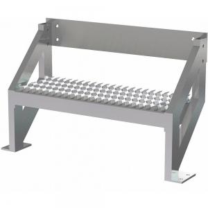 TRI-ARC MPASSW2 Ladder, 500 Lbs.Load Capacity, Serrated Tread, 18 Inch H x 29 Inch W, Aluminum   CD3LGF 53JE68