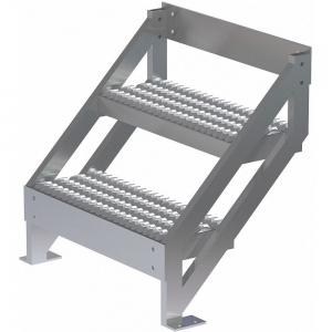 TRI-ARC MPASSW3 Ladder, Climbing Angle 45 Deg., 500 Lbs.Load Cap., Serrated Tread, Aluminum | CD3VXR 53JE69