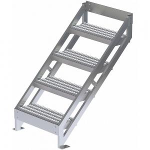 TRI-ARC MPASSW5 Ladder, 500 Lbs.Load Capacity, Serrated Tread, 45 Inch H x 29 Inch W, Aluminum   CD3LGH 53JE71