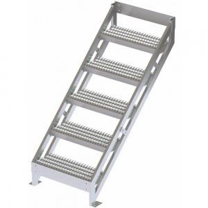 TRI-ARC MPASSW6 Ladder, 500 Lbs.Load Capacity, Serrated Tread, 54 Inch H x 29 Inch W, Aluminum | CD3LGJ 53JE72