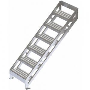 TRI-ARC MPASSW7 Ladder, 500 Lbs.Load Capacity, Serrated Tread, 63 Inch H x 29 Inch W, Aluminum | CD3LGK 53JE73
