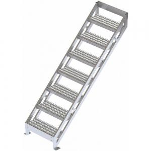 TRI-ARC MPASSW8 Ladder, 500 Lbs.Load Capacity, Serrated Tread, 72 Inch H x 29 Inch W, Aluminum | CD3LGL 53JE74