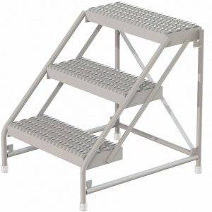 TRI-ARC WLAR003315SS Step Stand, 30 Inch Overall Height, 500 Lbs. Load Capacity, Number of Steps 3 | CD3VZA 403U07