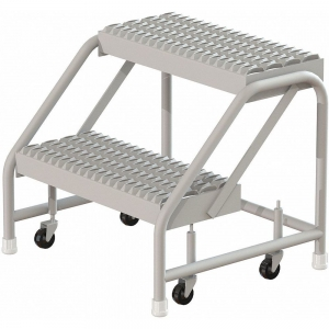 TRI-ARC WLST002212CAS Rolling Step, 20 Inch Overall Height, 500 Lbs. Load Capacity, Number of Steps 2 | CD3XEX 403U04