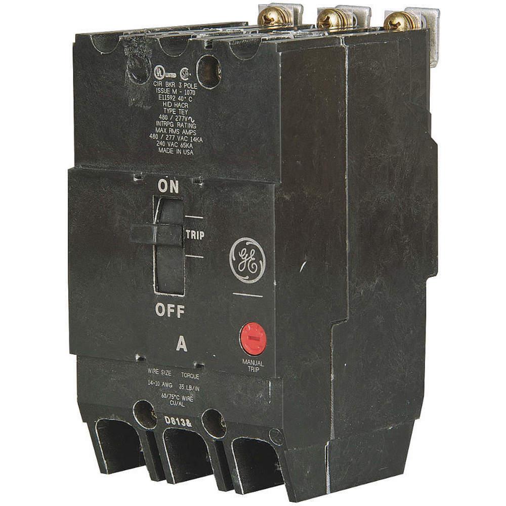 GENERAL ELECTRIC 100AMP CIRCUIT BREAKER TYPE: TEY TEY3100 3POLE