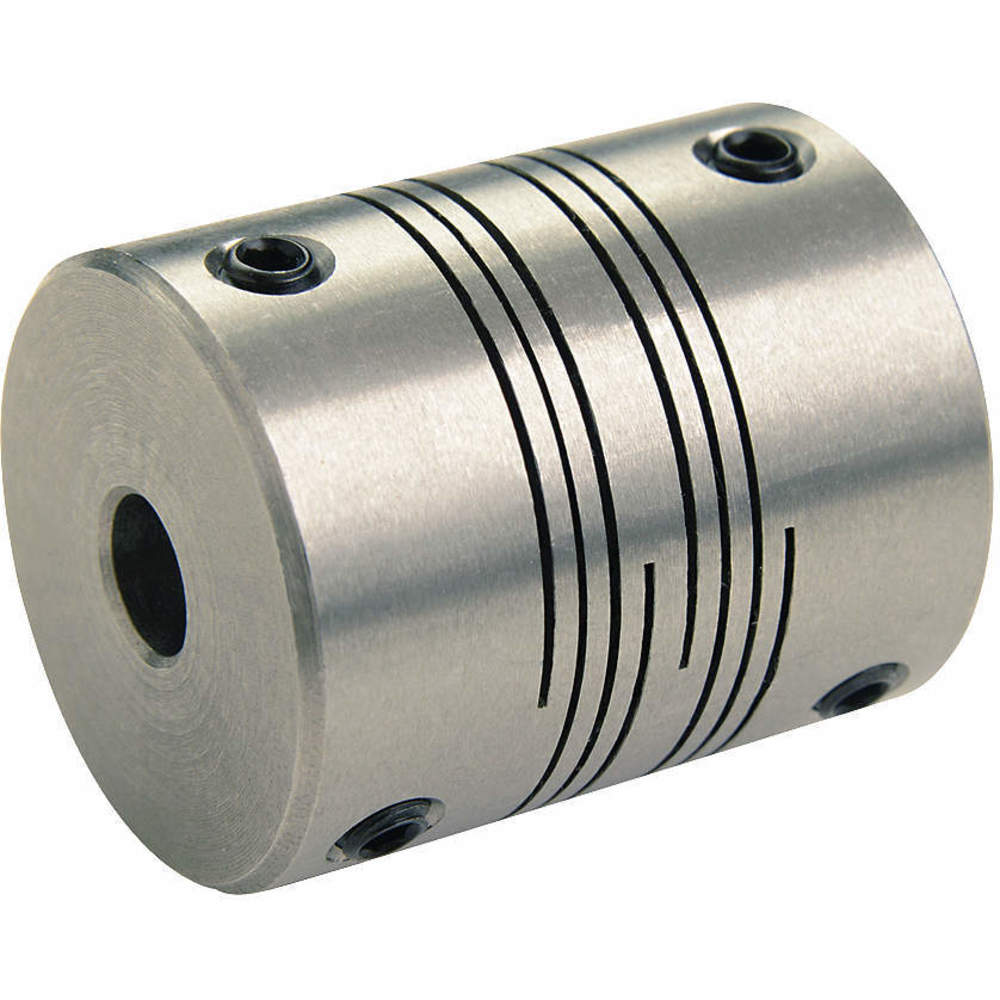 Coupling,Double Beam,Bore 3//8x3//8 In