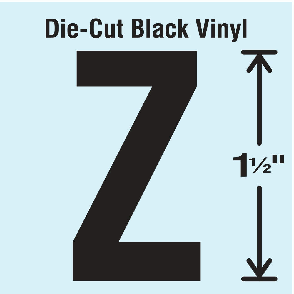 STRANCO INC Vinyl Die Cut Number Label 6 10 Cards,PK10 DBV-4-6-10