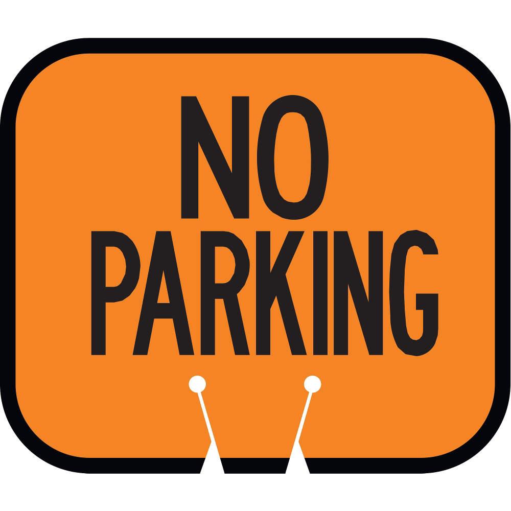 TAPCO 535-00016 Traffic Cone Sign,Black and Orange,Do Not Enter