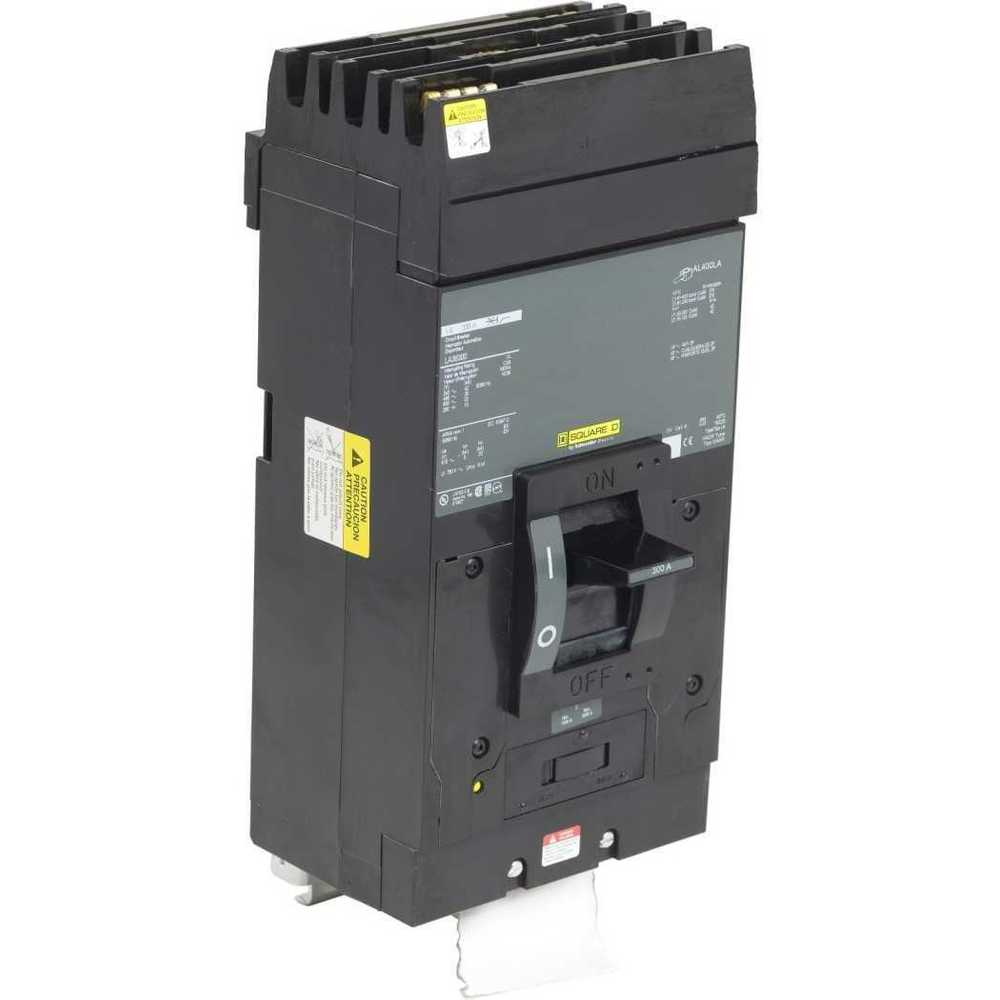 Square D LA36300 WARRANTY BLACK 3 POLE 300 AMP 600 VOLT Circuit Breaker